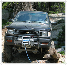 Winching A 4x4 Vehicle